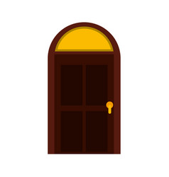 door house style isolated icon vector image vector image