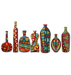 Fancy bottles vector