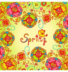 Figure spring flowers colorful background vector image vector image
