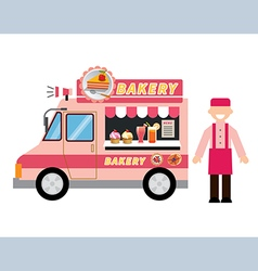 Food truck bakery vector