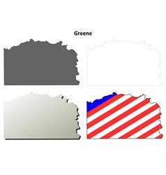 Greene map icon set vector