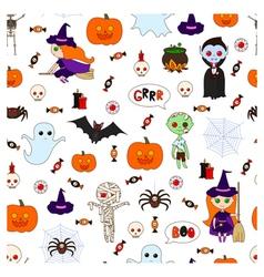 Halloween pattern second vector