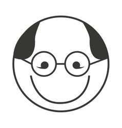 Head grandfather isolated icon vector
