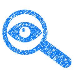 Investigate grunge icon vector