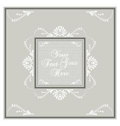 Light earth tone invitation card vector
