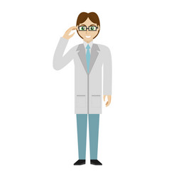 Male doctor glasses smile vector