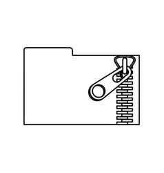metallic zipper symbol vector image
