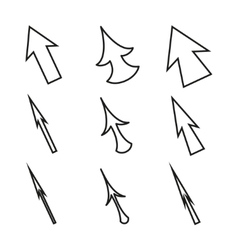Original Mouse Cursors Icons Arrows vector image vector image
