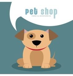 Pet shop background vector image