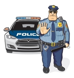 Police patrol sheriff vector