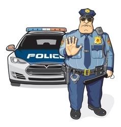 Police patrol sheriff vector image vector image