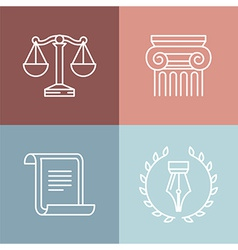 set of juridical and legal logos vector image vector image