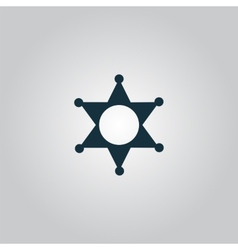 Sheriff star icon vector image vector image