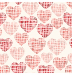 Sketchy seamless pattern with hearts vector image vector image