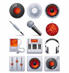 sound icon set vector image vector image