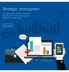 Strategic management concepts for web banners vector