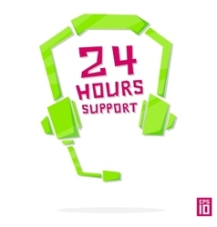 Support 24 vector image