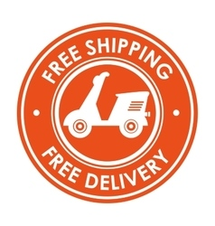 Symbol free shipping delivery design icon vector