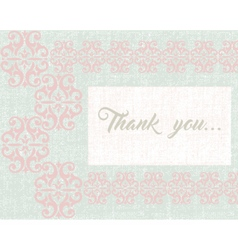 Thank you card or postcard vector