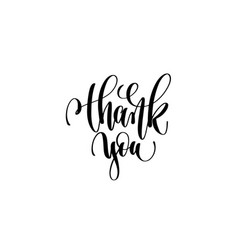 thank you hand lettering inscription vector image vector image