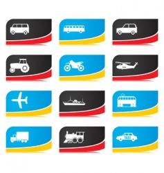 Transport buttons vector