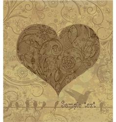 vintage valentine background vector image vector image