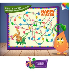 What is the way will collect the more Easter eggs vector image