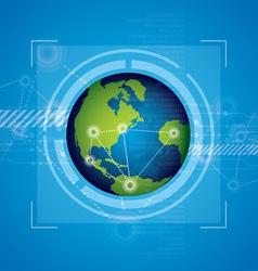 world technology background design vector image