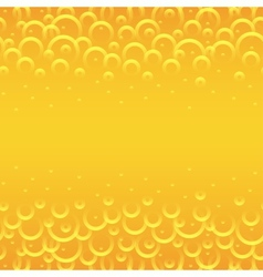 yellow circles background vector image vector image