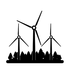 Isolated windmill with grass design vector