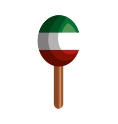 Mexican maraca instrument icon vector