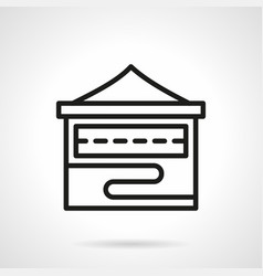 Folding stall simple line icon vector