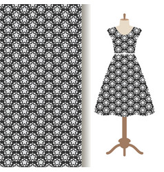 Womens dress fabric starry pattern vector