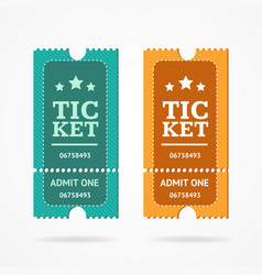 Ticket icon blank admit set retro old style vector