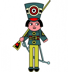 Toy soldier vector