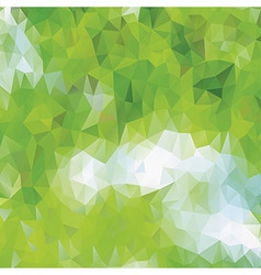 Green eco pattern of geometric shapes vector