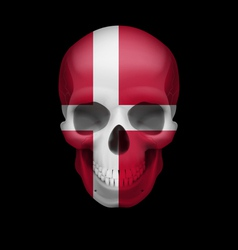 Danish flag skull vector