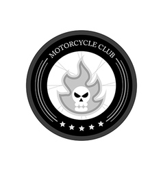 Retro motorcycle club logo on white background vector