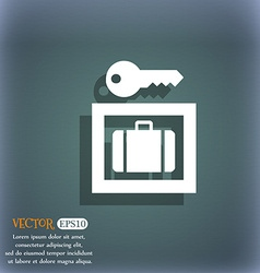 Luggage storage icon symbol on the blue-green vector