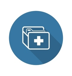 Medical records icon flat design long shadow vector