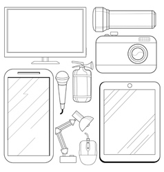 Set of consumer electronics vector