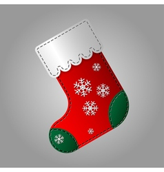 Christmas sock with snowflakes vector