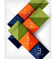 Paper style design templates square abstract vector