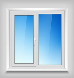 Plastic white window vector