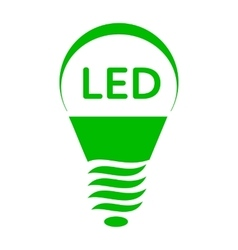 Led bulb light icon simple style vector
