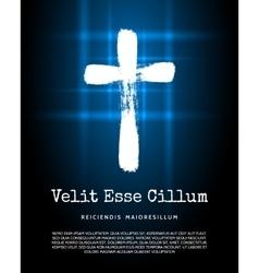 Christian cross icon vector