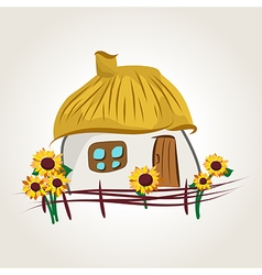 Ukrainian house cartoon vector