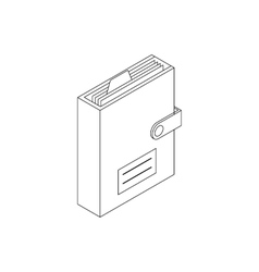 Personal organizer icon isometric 3d style vector
