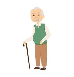 Granddad portrait vector