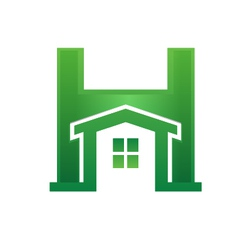 H house vector image